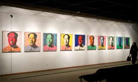 Andy Warhol art at Tehran's Museum of Contemporary Art - Pop Art & Op Art exhibition