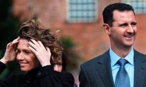 Asma and Bashar al-Assad.