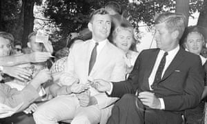 On the campaign … congressional candidate Vidal with presidential hopeful JF Kennedy, August 1960.