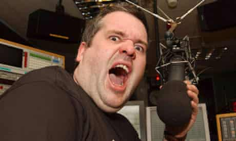 Chris Moyles with radio mic