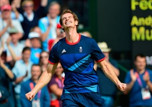 Top Ten: Great Britain's Andy Murray celebrates
