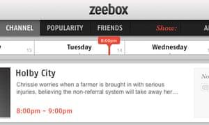 Zeebox's timeline