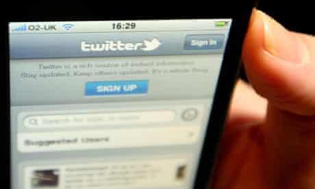 Twitter logo displayed on iPhone screen