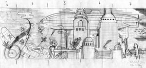High Times: Sketches of airships and biplanes