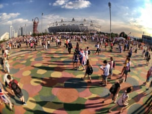 A fisheye view of the Olympic stadium in the glorious sunshine
