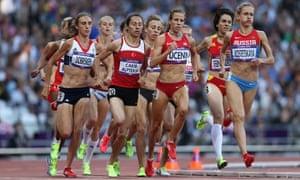 Women's 1500m race