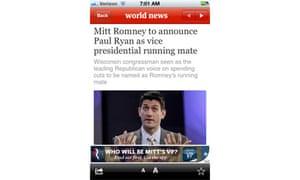 Romney campaign app