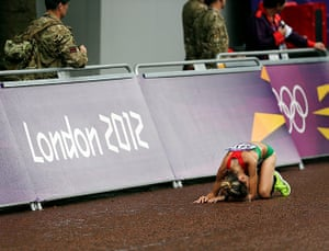 graeme best pics: Despair for a contestant in the Women's Marathon
