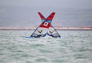 David Levene: RS:X Women's Windsurfer at Portland Harbour
