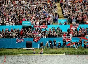team GB celebrations: Helen Glover and Heather Stanning celebrate winning  Team GB's first gold