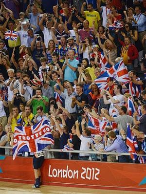 team GB celebrations: Women's Omnium gold medallist Laura Trott