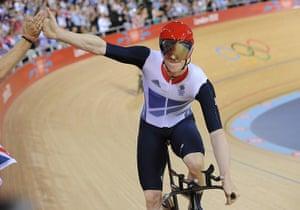 team GB celebrations: Team GB win gold in the men's team pursuit