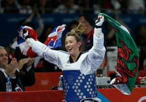 team GB celebrations: Jade Jones celebrates