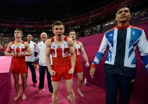 team GB celebrations:  men's gymnastics team final