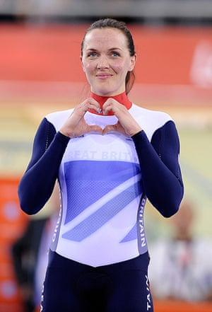 team GB celebrations: Victoria Pendleton