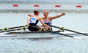 team GB celebrations: Sophie Hosking  and Kat Copeland
