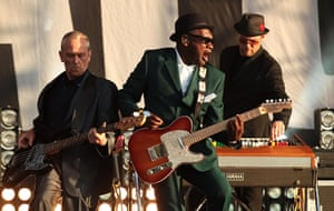 Blur in Hyde Park: Horace Panter, Lynval Golding and Nik Torp from the Specials