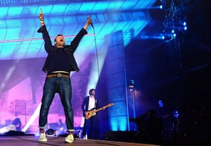 Blur in Hyde Park: Blur on the main stage