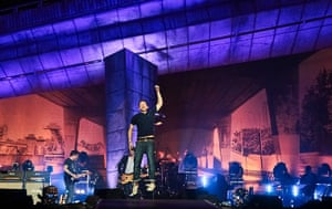 Blur in Hyde Park: Blur performed on a stage designed to look like a motorway flyover