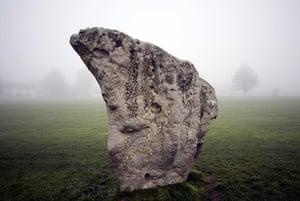 Story of British Art: One of the standing stones at Avebury