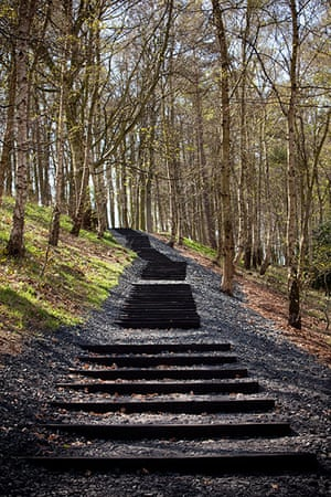 Story of British Art: David Nash, Seventy One Steps at Yorkshire Sculpture Park