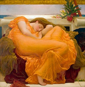 Story of British Art: Flaming June by Frederic Leighton