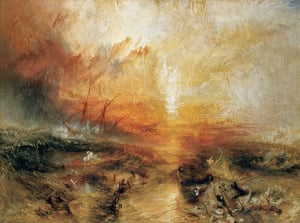 Story of British Art: The Slave Ship painted in 1840 by Joseph Mallord William Turner