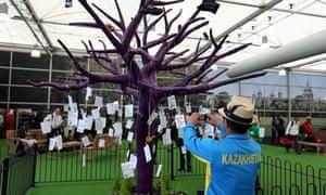 Memory tree at Heathrow airport