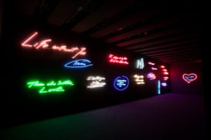 Story of British Art: A wall of Tracey Emin's neon works at the Hayward Gallery