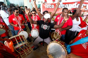 Olympians return home: rinidad and Tobago's Olympic gold medalist javelin thrower Keshorn Walcott