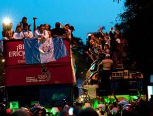 Olympians return home: Athlete Erick Barrondo returns home