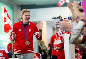 Olympiads return home: Christine Sinclair waves to fans as she returns home