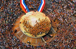 Olympiads return home: The honoring ceremony for the Dutch Olympic contesters return home