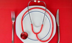 Stethoscope on a plate