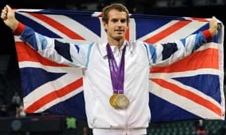 Andy Murray celebrating his Olympic successes