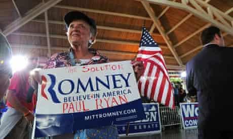 Mitt Romney supporter in Virginia