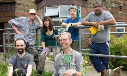 The Drive housing co-op outisde their home in Walthamstow