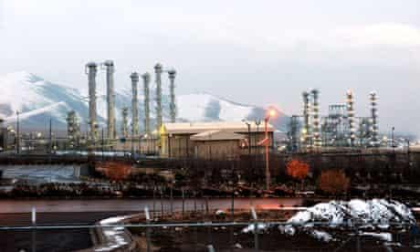 The heavy water reactor at Arak, Iran