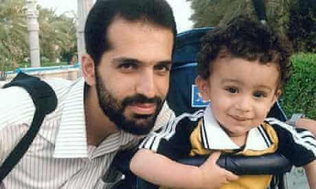 Murdered nuclear scientist Mostafa Ahmadi Roshan poses with his son Alireza