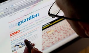 internet web site of The guardian UK based newspaper