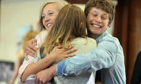 Sixth form students celebrate their A-level results