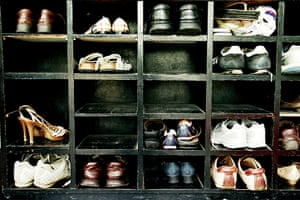 Your Pictures: Square: Various shoes in cubbyholes