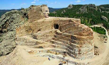 Crazy Horse Memorial mountain carving in the Black Hills of South Dakota