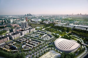A Computer Generated view of Olympic Site with new housing in place