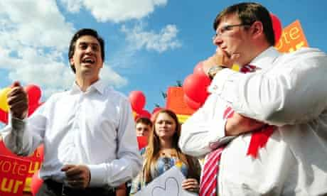 Ed Miliband and Andy Sawford
