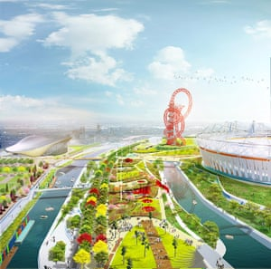 A computer generated view of the South Plaza area of Olympic Site