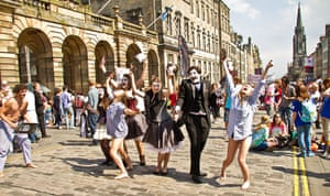 Reader's Edinburgh photos: Performers promoting their show by W F Bryan on 4 August