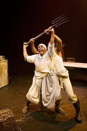 Edinburgh Festival: Bongile Mantsai as John and Thokozile Ntshinga as Christine in Mies Julie