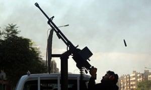 Syria anti-aircraft gun Aleppo