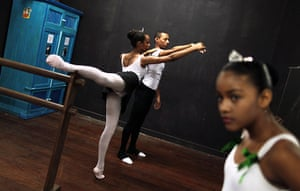 From the agencies: A couple performs during their ballet class